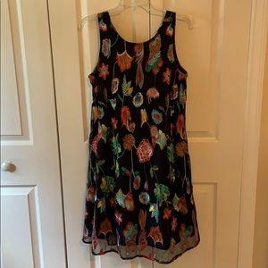 MSK embellished flowered dress. M-EUC